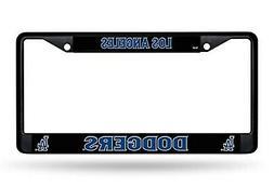 Los Angeles Dodgers BLACK Metal Chrome License Plate Tag Fra