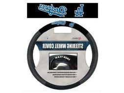 Los Angeles Dodgers Black Poly-suede & Mesh Steering Wheel C
