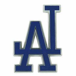 Los Angeles Dodgers Blue Chrome Color Molded Metal Emblem
