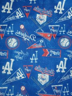 Los Angeles Dodgers Blue MLB Baseball Fabric 100% Cotton 1/4
