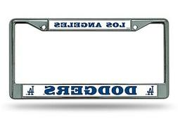 Los Angeles Dodgers BOLD Chrome Frame Metal License Plate Ta