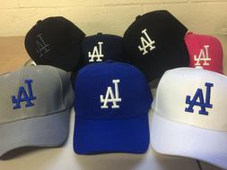 Los Angeles Dodgers Cap Hat Embroidered LA Men Adjustable Cu