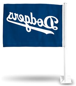 LOS ANGELES DODGERS CAR FLAG DOUBLE SIDED