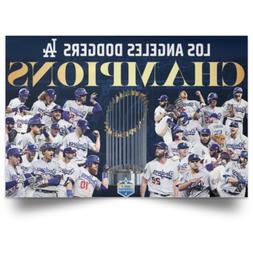 Los Angeles Dodgers Champions 2020 poster Art Print Size 12x