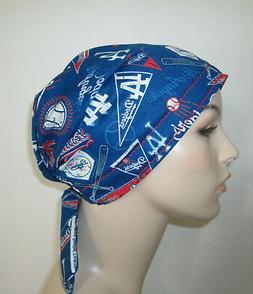 Los Angeles Dodgers Chemo Hat Scrub  Cap Pediatric Nurses Ha