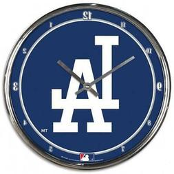 Los Angeles Dodgers Chrome Round Wall Clock  MLB Sign Banner