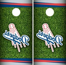 Los Angeles Dodgers Cornhole Wrap MLB Field Game Skin Set Vi