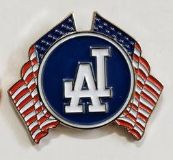 LOS ANGELES DODGERS CROSSED FLAGS LAPEL PIN
