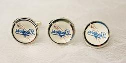 Los Angeles Dodgers Cufflinks and Tie Tack Set Upcycled from