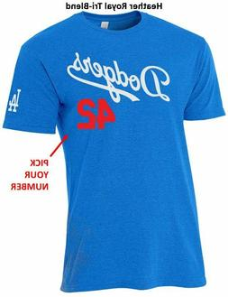 Los Angeles Dodgers CUSTOMIZE Name & Number SlimFit T-Shirt