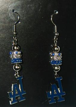 Los Angeles Dodgers Dangle Earrings  Licensed MLB Baseball J