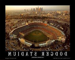 Los Angeles Dodgers DODGER STADIUM AT DUSK Premium Aerial Po