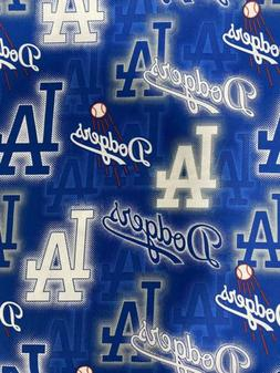 Los Angeles Dodgers Fabric 1/2 Yard X 44 Inches Cotton Fast