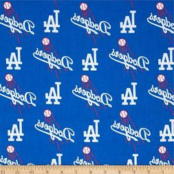 Los Angeles Dodgers Fabric MLB  Baseball Cotton New  BTFQ Bl