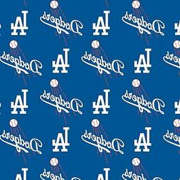 Los Angeles Dodgers Fabric by the Yard or Half Yard, License