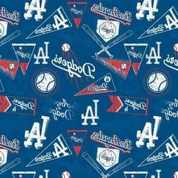Los Angeles Dodgers Fabric by the Yard or Half Yard