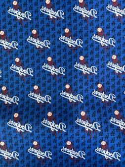 Los Angeles Dodgers Fabric Mini Logo LA Cotton 1/2 Yard X44i