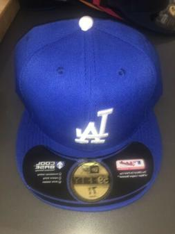 Los Angeles Dodgers Fitted Hat Cap Blue Mlb Baseball