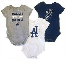 Los Angeles Dodgers Gen2 Infant Big Time Fan 3 Pack Bodysuit