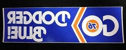 """Los Angeles Dodgers """"Go Dodger Blue!"""" 1980's Vintage 3.5""""x12"""