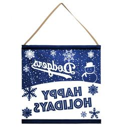 Los Angeles Dodgers Happy Holidays Banner Sign Christmas Wal