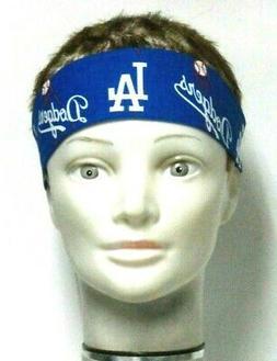 Los Angeles Dodgers Headband Blue 100%Cotton #106 New Handma