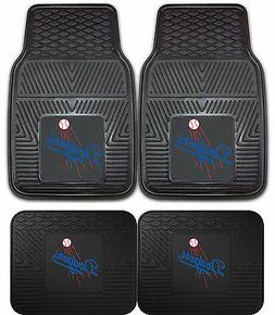Los Angeles Dodgers Heavy Duty Floor Mats 2 & 4 pc Sets for