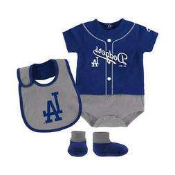 Los Angeles Dodgers Infant 3 Pc Tiny Player Bib, Boodie & Bo