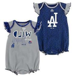 "Majestic Los Angeles Dodgers Infant Girls ""Team Sparkle"" 2-P"