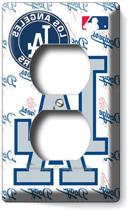 LOS ANGELES DODGERS LA BASEBALL TEAM OUTLET PLATES MAN CAVE