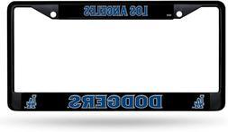 Rico Los Angeles Dodgers La Black Metal Chrome License Plate