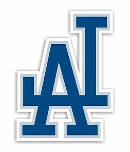 "Los Angeles Dodgers ""LA""  Decal / Sticker Die cut"