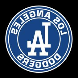 Los Angeles Dodgers LA Circle logo Vinyl Decal / Sticker CHO