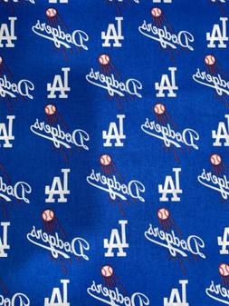 Los Angeles Dodgers LA Fabric 1/2 Yard X 58 Inches Cotton