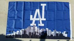 Los Angeles Dodgers LA Logo 3ft x 5ft flag, banner, Blue, Po