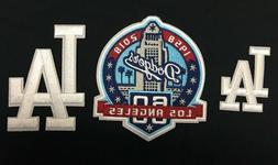 LOS ANGELES DODGERS LA LOGO & 60TH ANNIVERSARY IRON ON PATCH