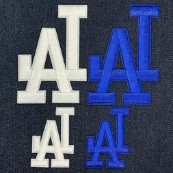 LOS ANGELES DODGERS LA LOGO JERSEY IRON ON PATCH SET OF 4 2