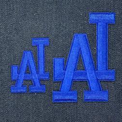 LOS ANGELES DODGERS LA LOGO JERSEY IRON ON PATCH SET BLUE 3.