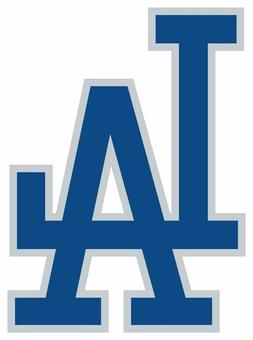 Los Angeles Dodgers LA logo Vinyl Decal / Sticker CHOOSE SIZ