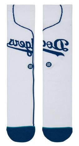 Los Angeles Dodgers LA Stance MLB White Home Jersey Socks La