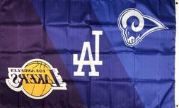 Los Angeles Dodgers Lakers Rams Flag 3x5 ft Sports Banner Ma