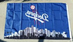 Los Angeles Dodgers Logo 3ft x 5ft LA flag, banner, Blue, Po