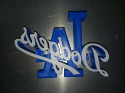 LOS ANGELES DODGERS LOGO DECAL SIGN MLB BASEBALL MAN CAVE-3D