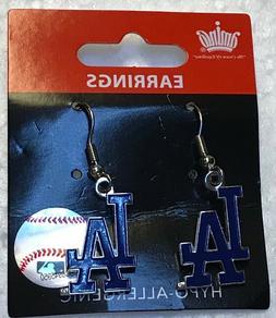 Los Angeles Dodgers Logo J Hook Dangle Earrings NEW HYPO ALL