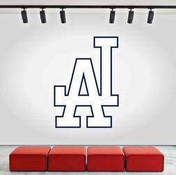Los Angeles Dodgers Logo Wall Decal MLB Sports Baseball Home