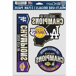 LOS ANGELES DODGERS LOS ANGLELS LAKERS CITY CHAMPS 3-MULTI U