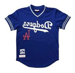Los Angeles Dodgers Mens Jersey Mitchell & Ness Mesh BP V-Ne