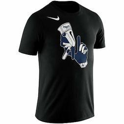 Los Angeles Dodgers Mens T-Shirt Nike Black Gloves Local Phr