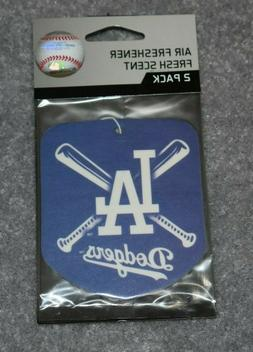 LOS ANGELES DODGERS MLB BASEBALL 2-PACK AIR FRESHENER FRESH