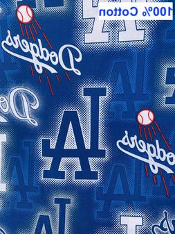 """Los Angeles Dodgers MLB Baseball 44"""" Wide fabric by the yard"""